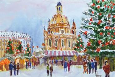 Dresden Weihnachten.Weihnachtskarten Dresden Kunstverlag